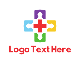 Funeral Home - Colorful Medical Cross Doctors logo design
