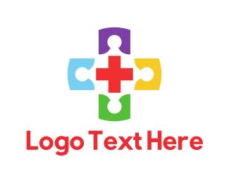 Colorful Medical Cross Doctors Logo