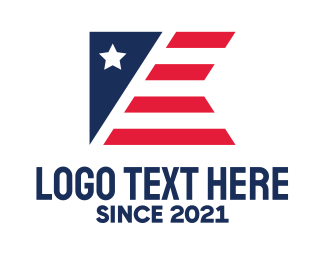 Liberian - Abstract Patriotic Flag logo design