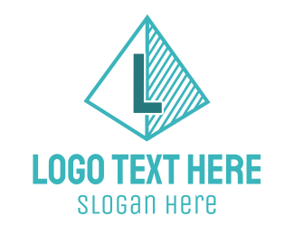 Triangular - Blue Triangle Letter logo design