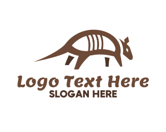 White And Brown - Brown Armadillo logo design