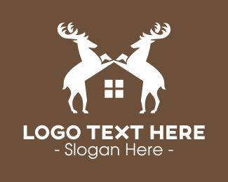 Chital - Wild Deer Real Estate logo design