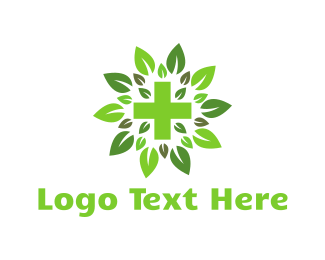 Alternative Medicine - Green Cross logo design
