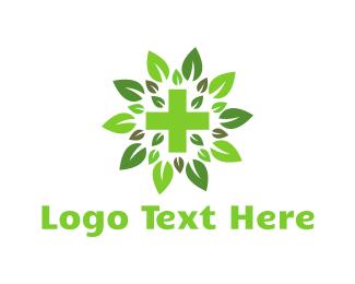 Marijuana - Green Cross logo design