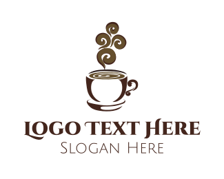 Hot Chocolate - Hot Brown Cup logo design