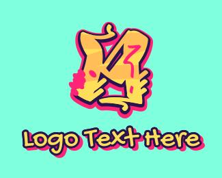 Teenager - Graffiti Art Letter M logo design