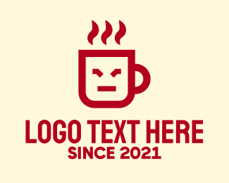 Coffee Cup - Red Coffee Cafe Mug logo design