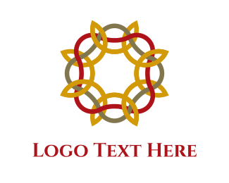 Gray - Floral Pattern logo design