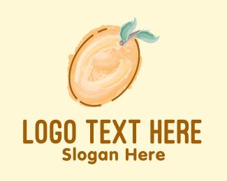 Watercolor - Cute Mango Watercolor logo design