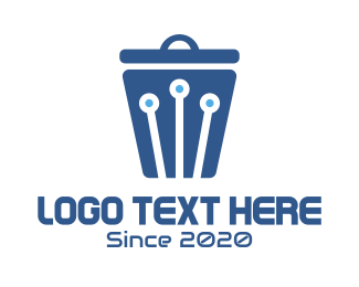 Webhosting - Data Trash logo design