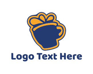 Present - Mug Gift logo design