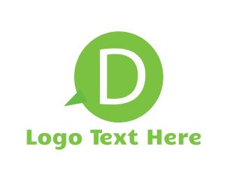 Call - Bubble Letter D logo design