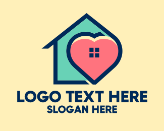 Work At Home - Safe Family Home logo design