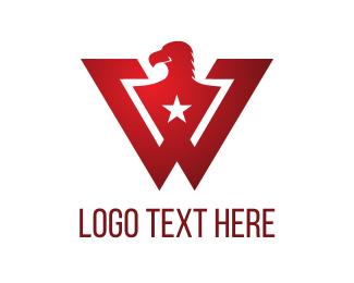 Vulture - W Red Eagle  logo design