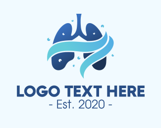 Neat - Clean Respiratory Lungs logo design