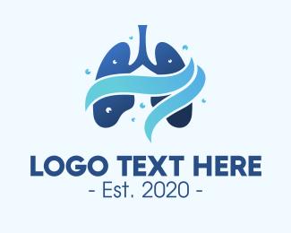 Breathe - Clean Respiratory Lungs logo design