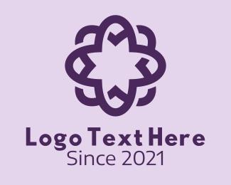 Massage - Violet Flower Massage logo design