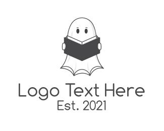 Book Club - Ghost Book Store logo design
