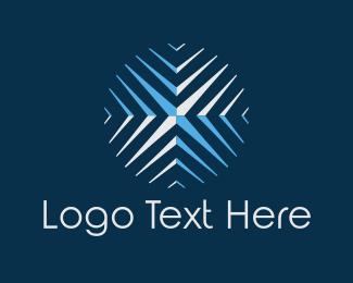 Snowflake - Round Snowflake logo design