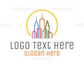 Center - Colorful City logo design