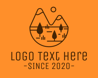 Explore - Minimalist Mountain Adventure logo design