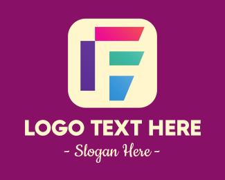 Letter F - Colorful Mobile App Letter F logo design