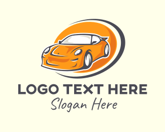 Car Club - Orange Sports Car logo design