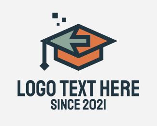 Online Learning - Digital Online Graduate logo design
