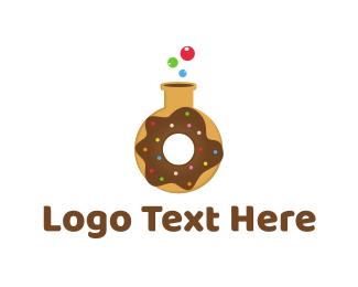 Lab - Donut Lab logo design