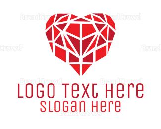 Barcelona - Heart Mosaic logo design
