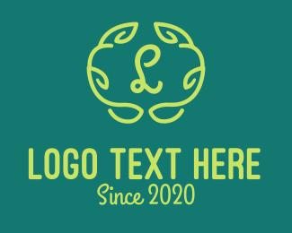Organic Products - Vine Organic Lettermark logo design