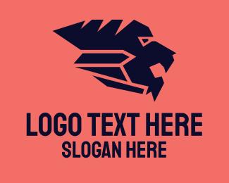 Blue Tiger - Wild Blue Lion logo design