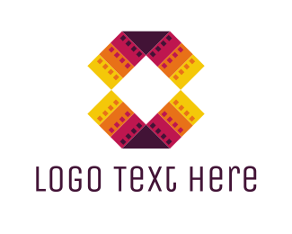 Abstract - Colorful Filmstrips logo design