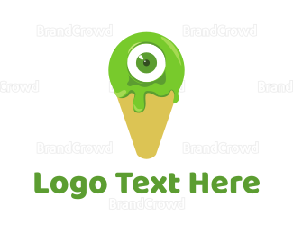 Alien - Cone Monster logo design