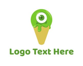 Green Tea - Cone Monster logo design