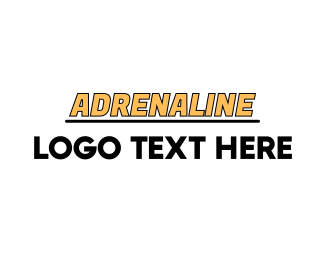 Drag Racing - Yellow Racing Wordmark logo design