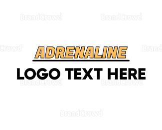 Drag Racing - Yellow Racing Wordmark logo design