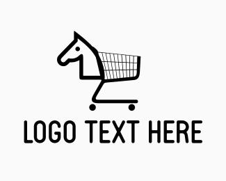 Cart - Horse Cart logo design