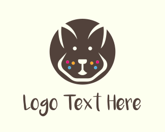 Rodent - Brown Bunny logo design
