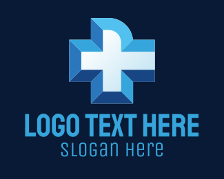 Nursing - Blue Medical Cross logo design