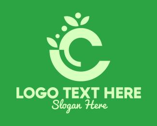 All Natural - Organic Letter C logo design