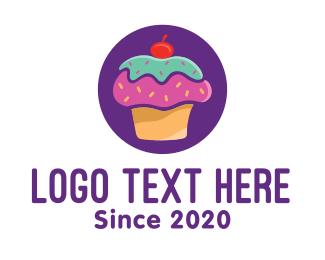 Bakery - Cherry Cupcake Bakery logo design