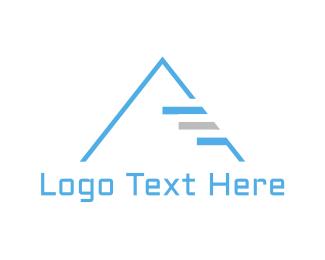 Egypt - Blue Pyramid  logo design