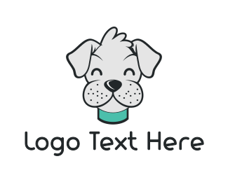 Cute Gray Terrier Logo