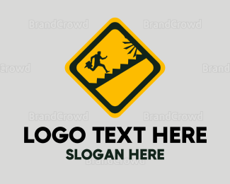 Hire - Running Sign logo design