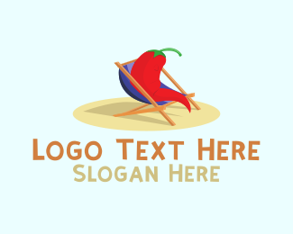 Beach - Red Chili logo design