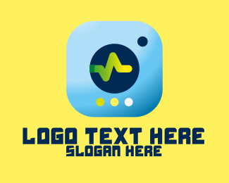 Monitor - Health Monitor App logo design