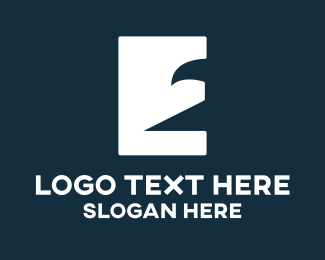 Letter E - Eagle Letter E logo design