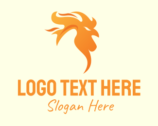 Chicken - Flame Chicken logo design