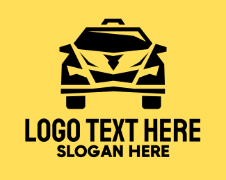 Airport Taxi - Yellow Taxi Cab logo design